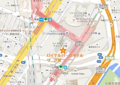汐留ホテル地図
